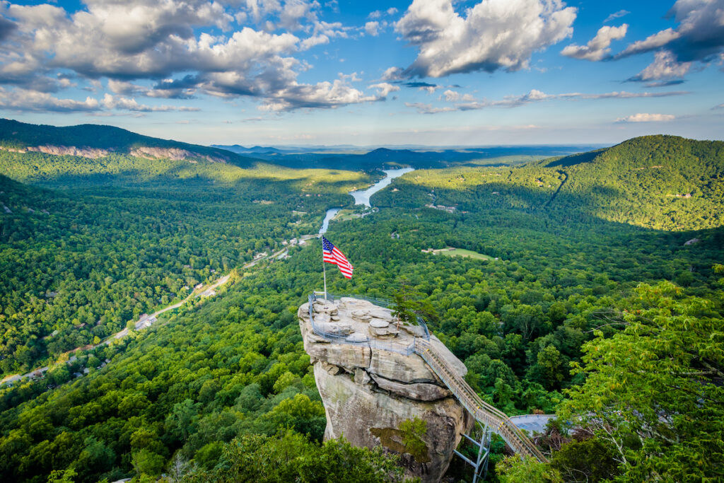 Chimney Rock State Park in Rutherford, North Carolina.