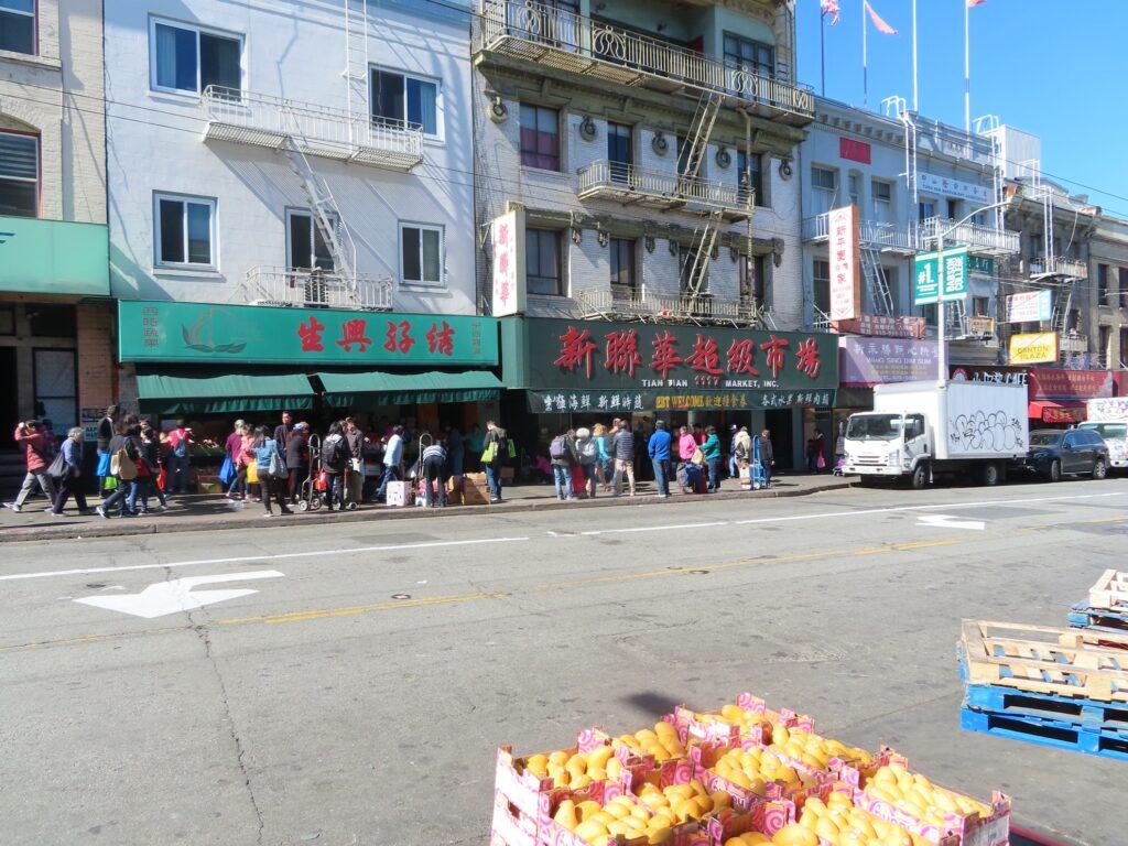 Chinatown in San Francisco, California.