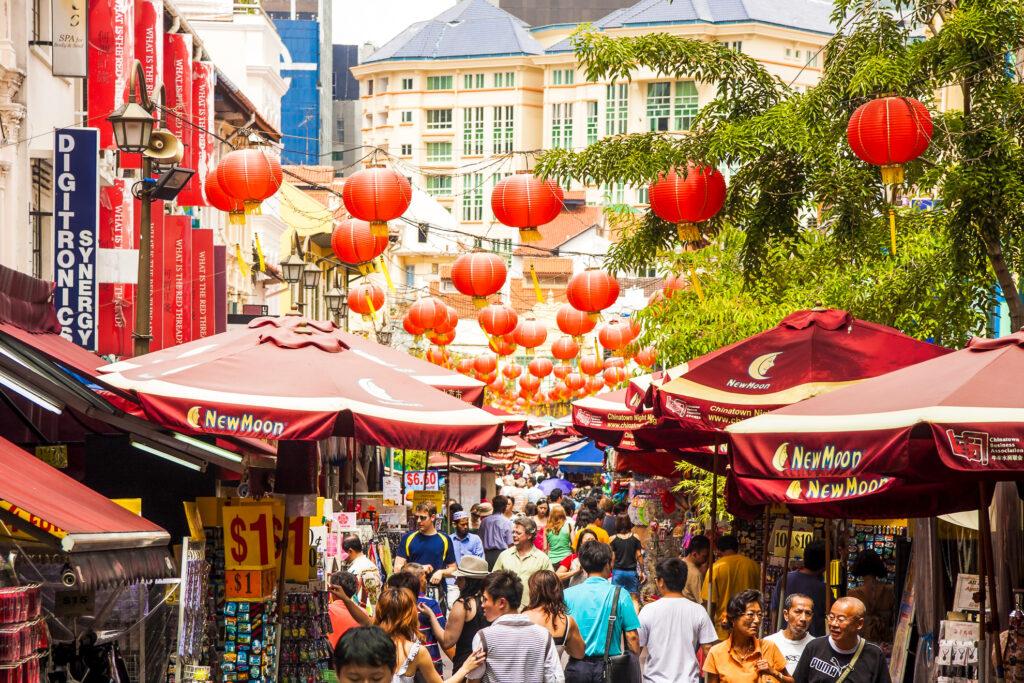 Chinatown in Singapore.