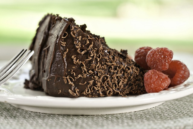 Chocolate cake from The Golden Stage Inn.