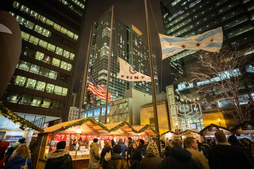 Christkindlmarket Chicago in Illinois.