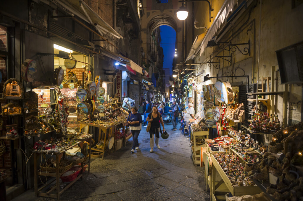 Christmas Alley in Naples, Italy.
