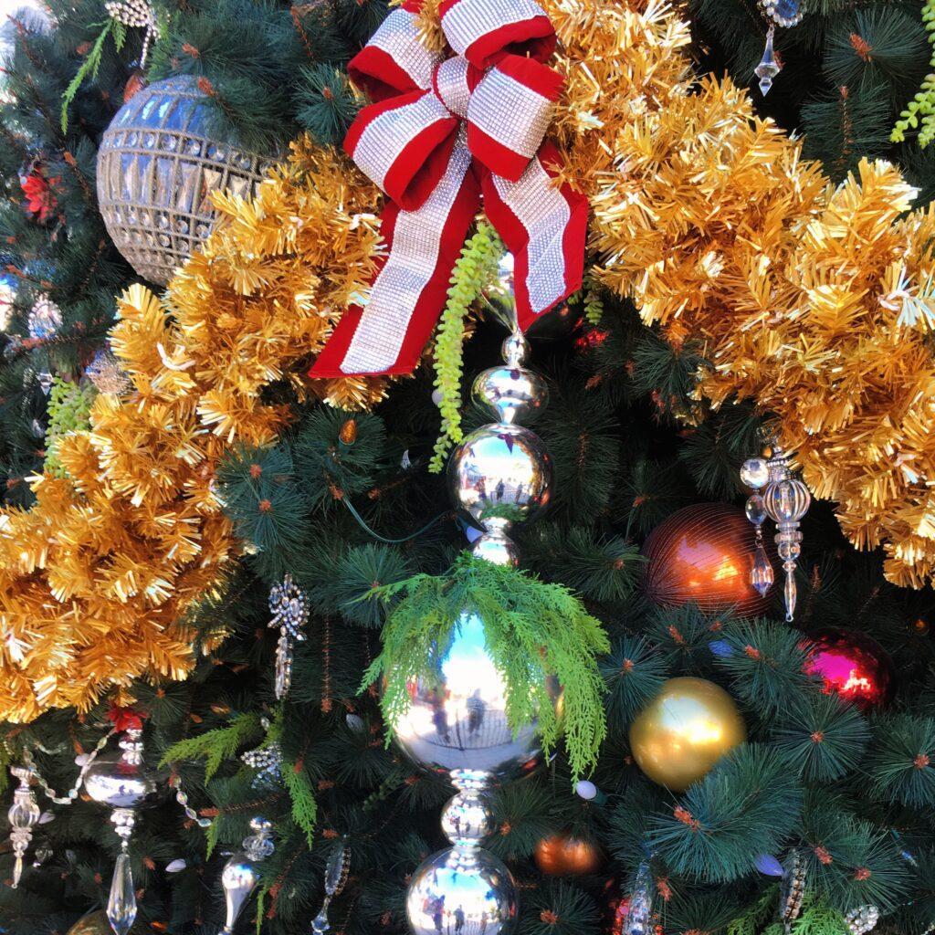 Christmas decorations at Disney World.