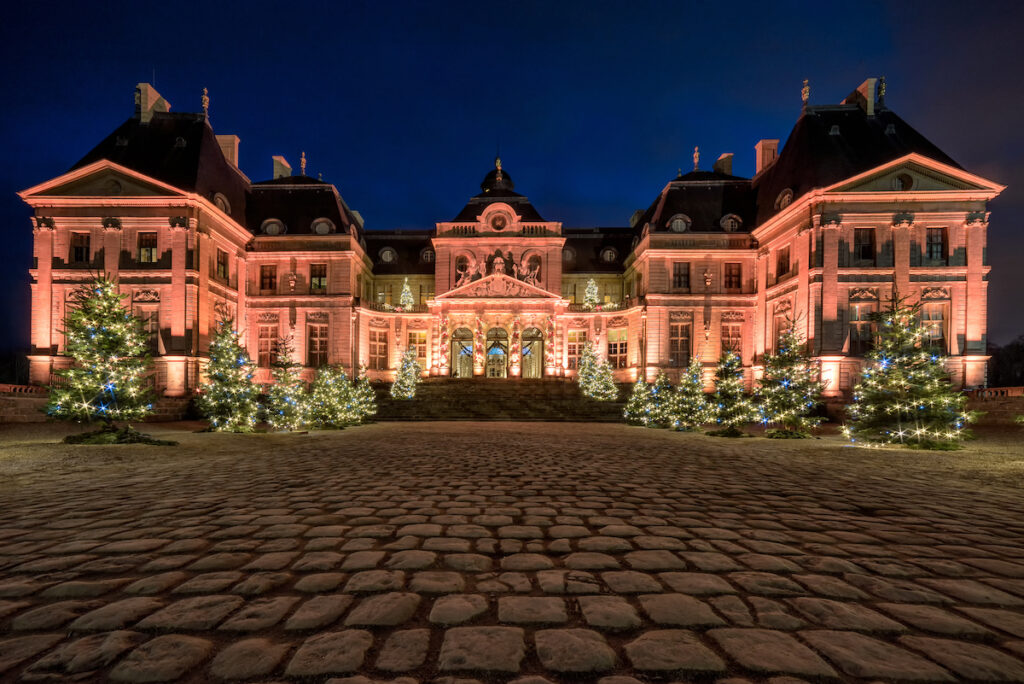 Christmas decorations at Vaux Vicomte in France.