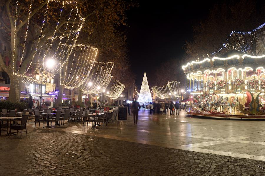 Christmas decorations in Avignon, France.