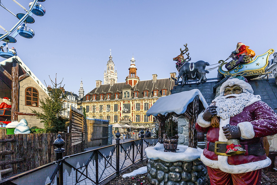 Christmas decorations in Lille, France.