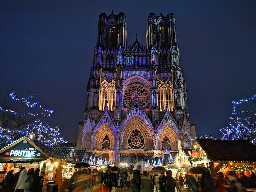 Christmas decorations in Reims, France.