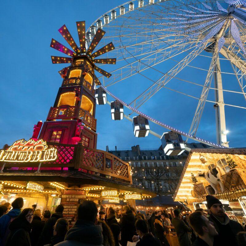 Christmas festivities in Paris, France, during November.