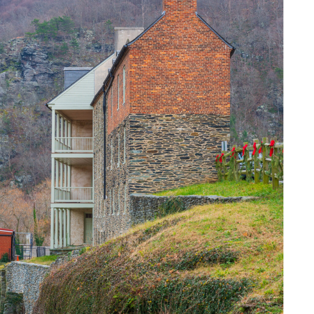 Christmas in Harpers Ferry, West Virginia.