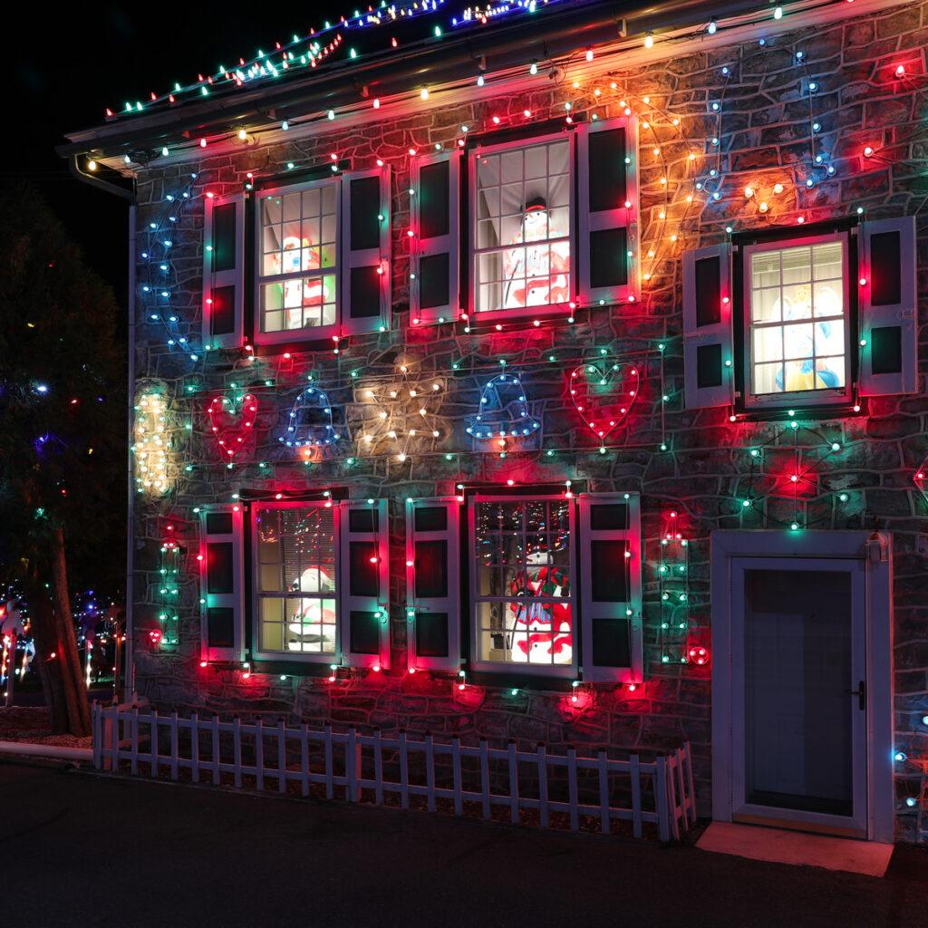 Christmas light display at Koziar's Christmas Village in PA