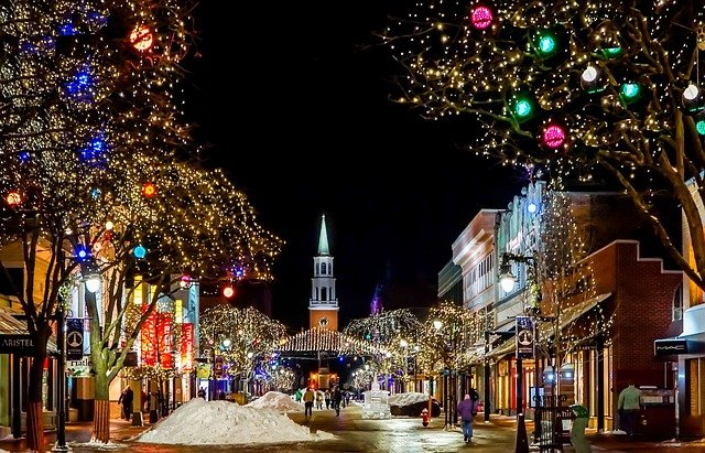 Christmas light displays in town