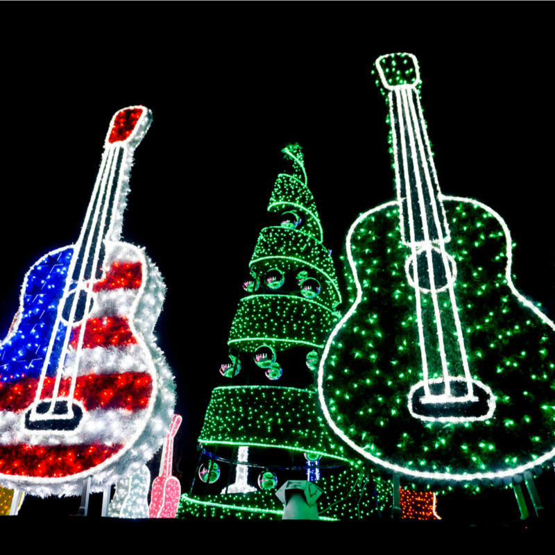 Christmas lights in Austin, Texas.