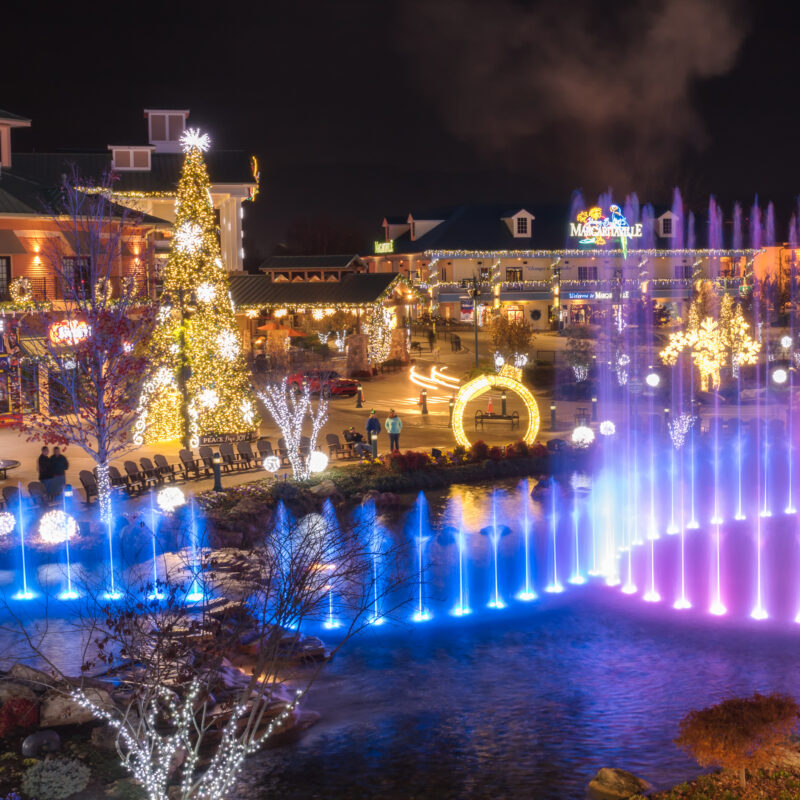 Christmas lights in Pigeon Forge, Tennessee.