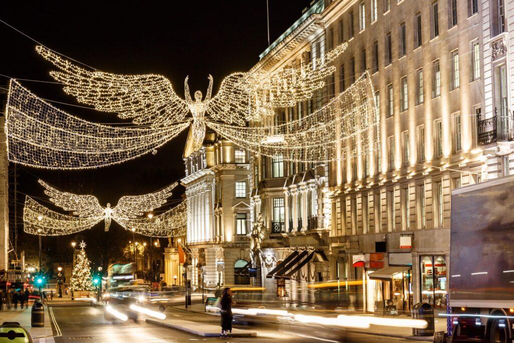 Christmas lights over London's Regent Street.