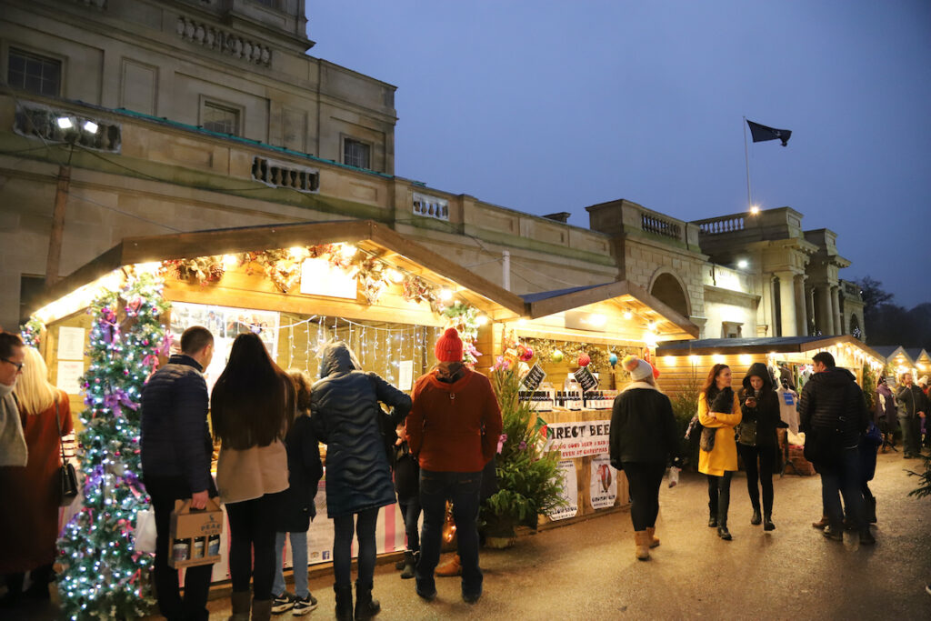 Christmas markets at Chatsworth House in Derbyshire.