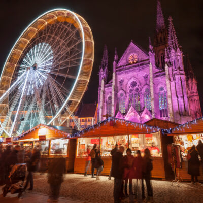Christmas markets in Mulhouse, France.
