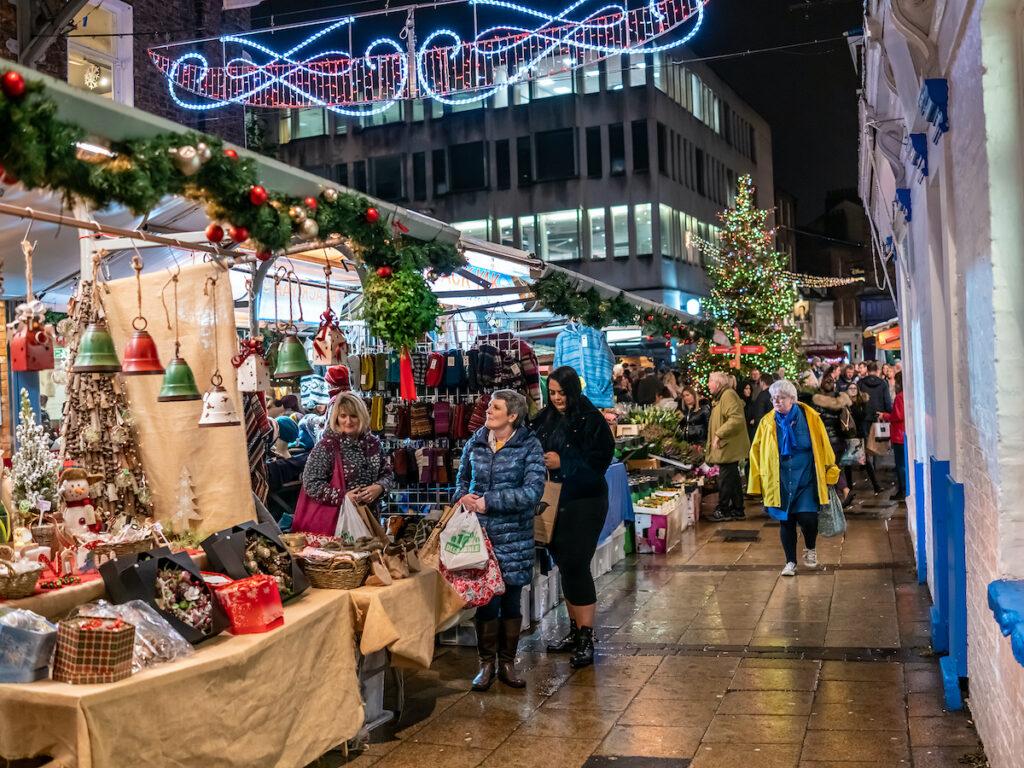 Christmas markets in York, England.