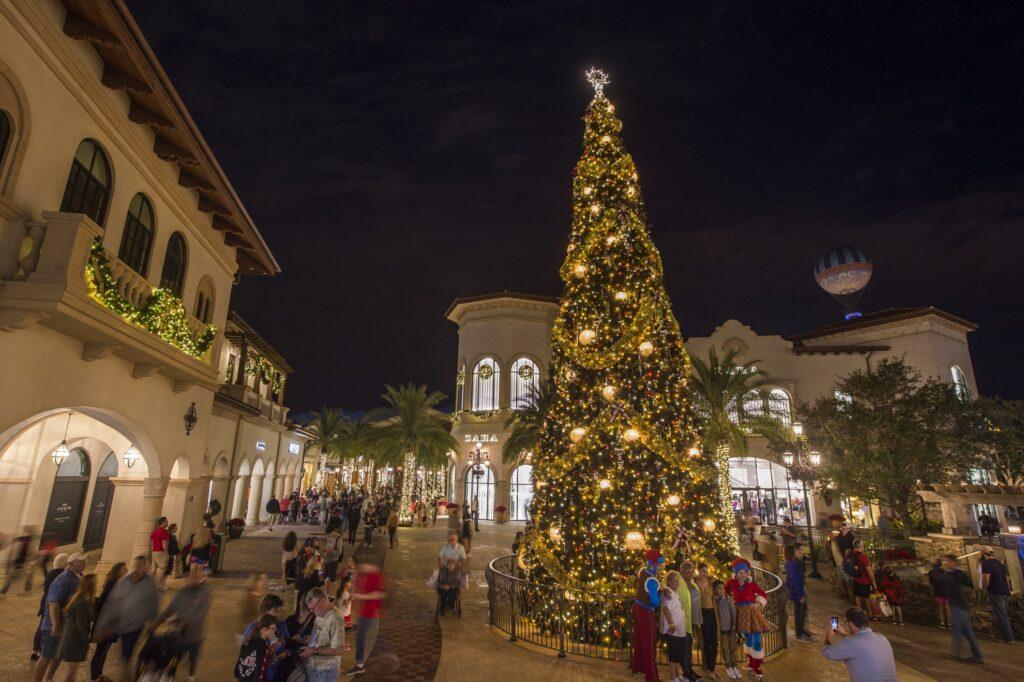 Christmas time at Disney Springs.