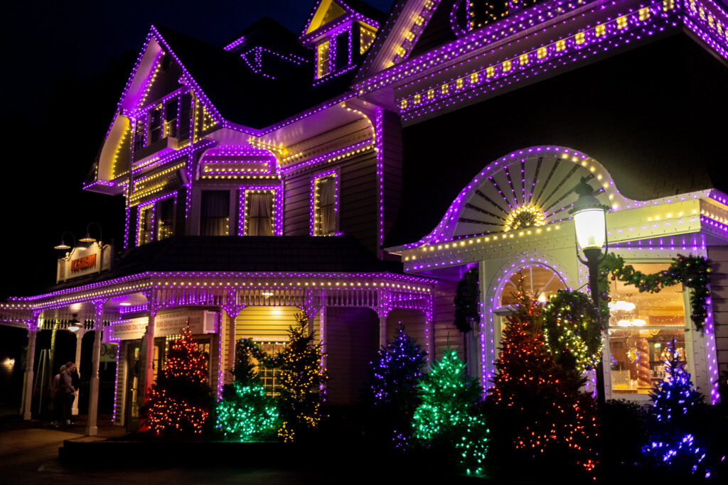 Christmas time at Dollywood.