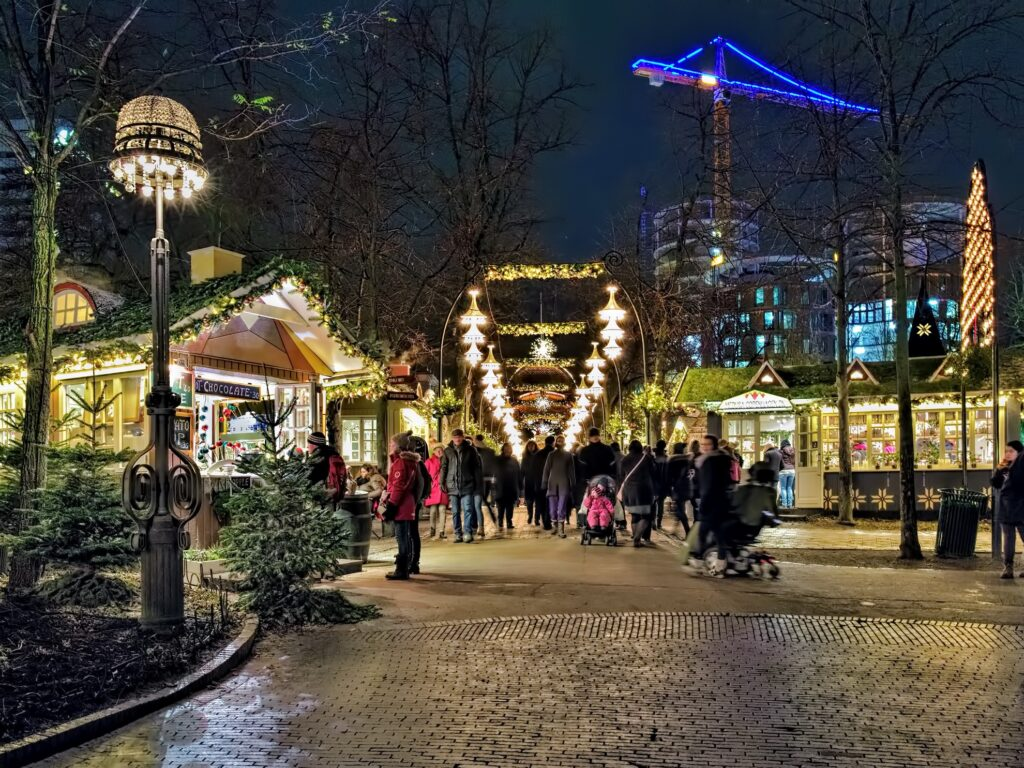 Christmas time at Tivoli Gardens.