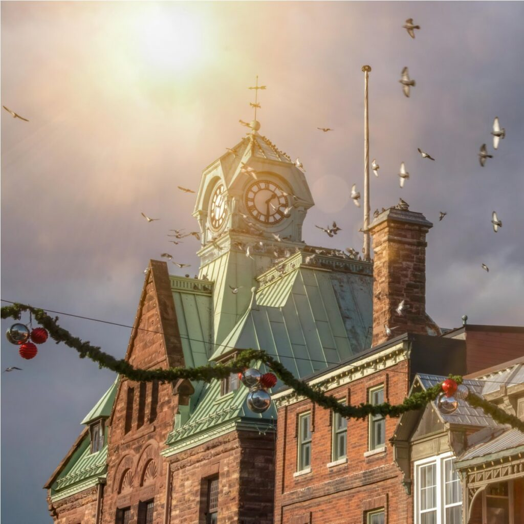 Christmas time in Almonte, Canada.
