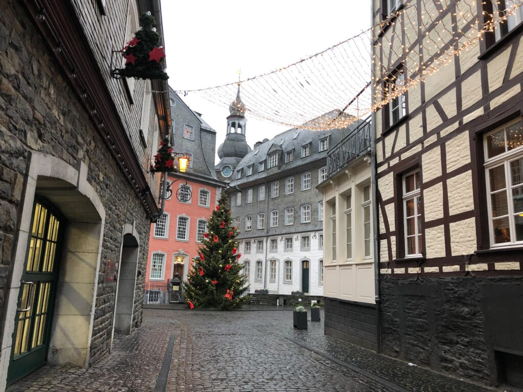 Christmas time in Monschau, Germany.