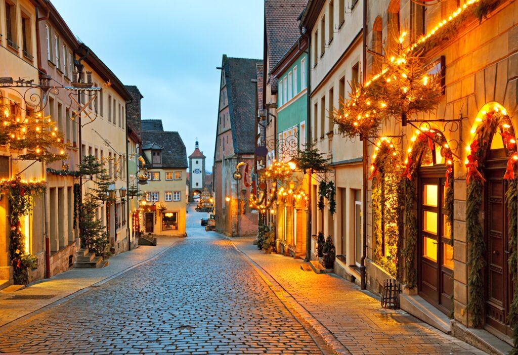 Christmas time in Rothenburg ob der Tauber.