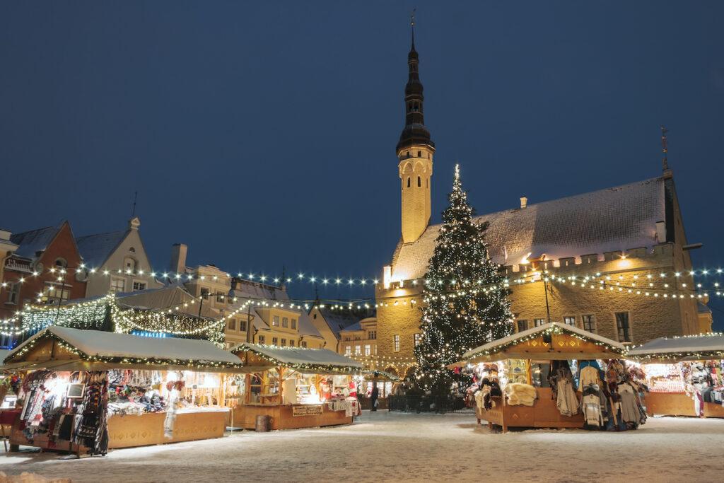 Christmas time in Tallinn, Estonia.