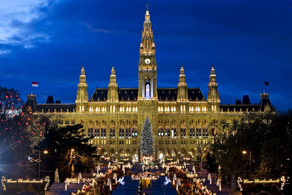 Christmas time in Vienna, Austria.