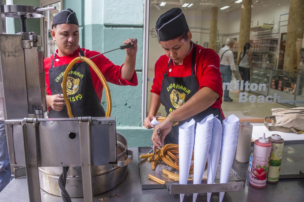 churros at a havana street stall