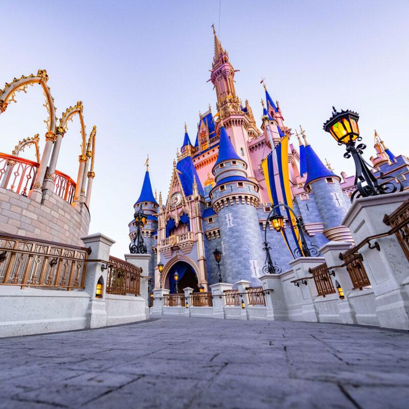 Cinderella's Castle at Walt Disney World in Florida.