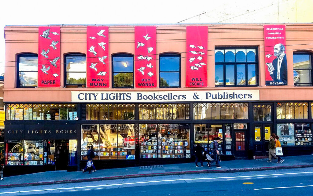 City Lights Booksellers & Publishers in San Francisco, California
