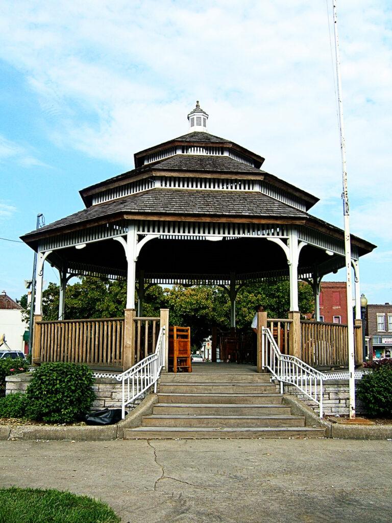 City Square Gazebo, Carlinville, Illinois.