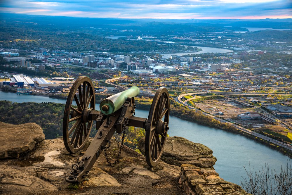 Civil War cannon on Lookout Mountain in Tennessee.