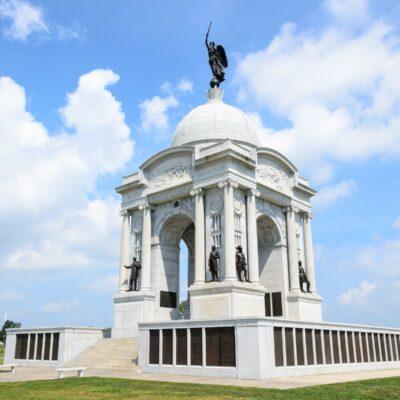 Civil War monument at Gettysburg National Historic Park.