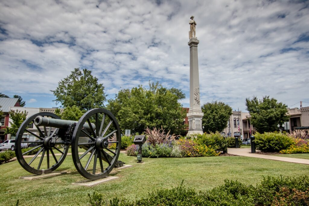 Civil War monuments in Franklin.
