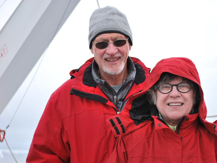 Clark and Catharine in Antarctica