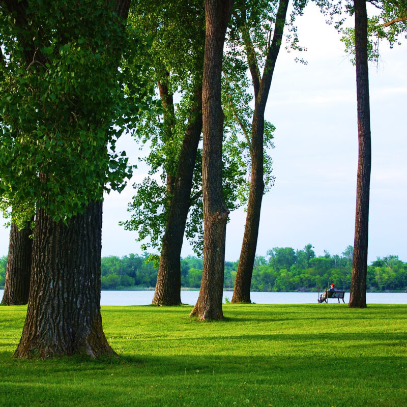 Clear Lake State Park in Iowa.