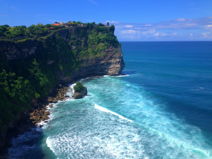 Cliff drop-off at Pura Luhur Uluwatu