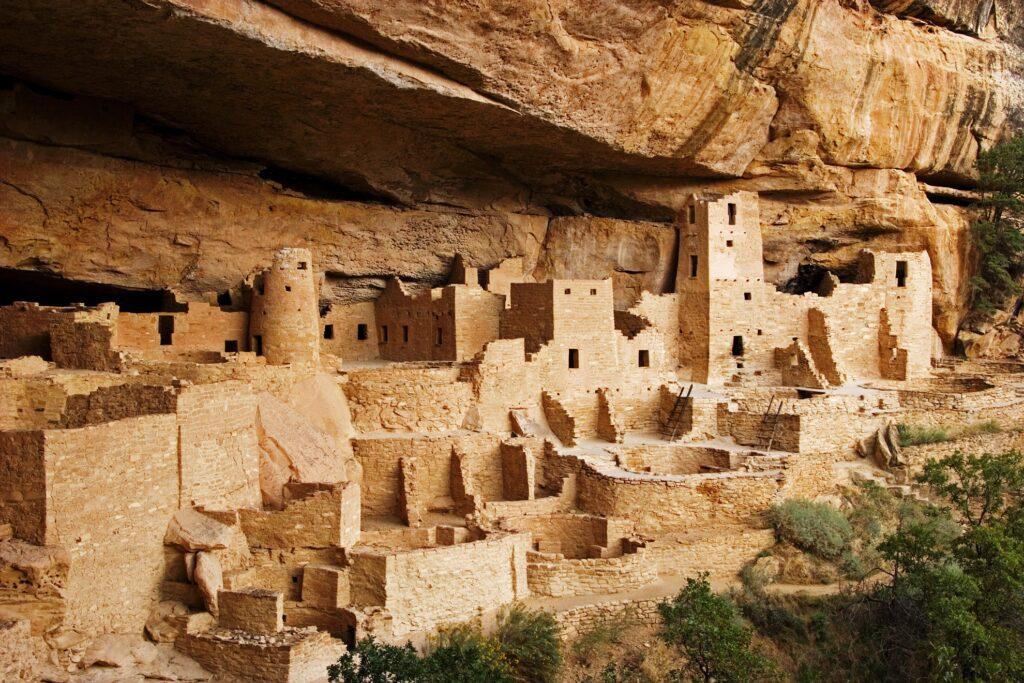 Cliff dwellings at Mesa Verde National Park.