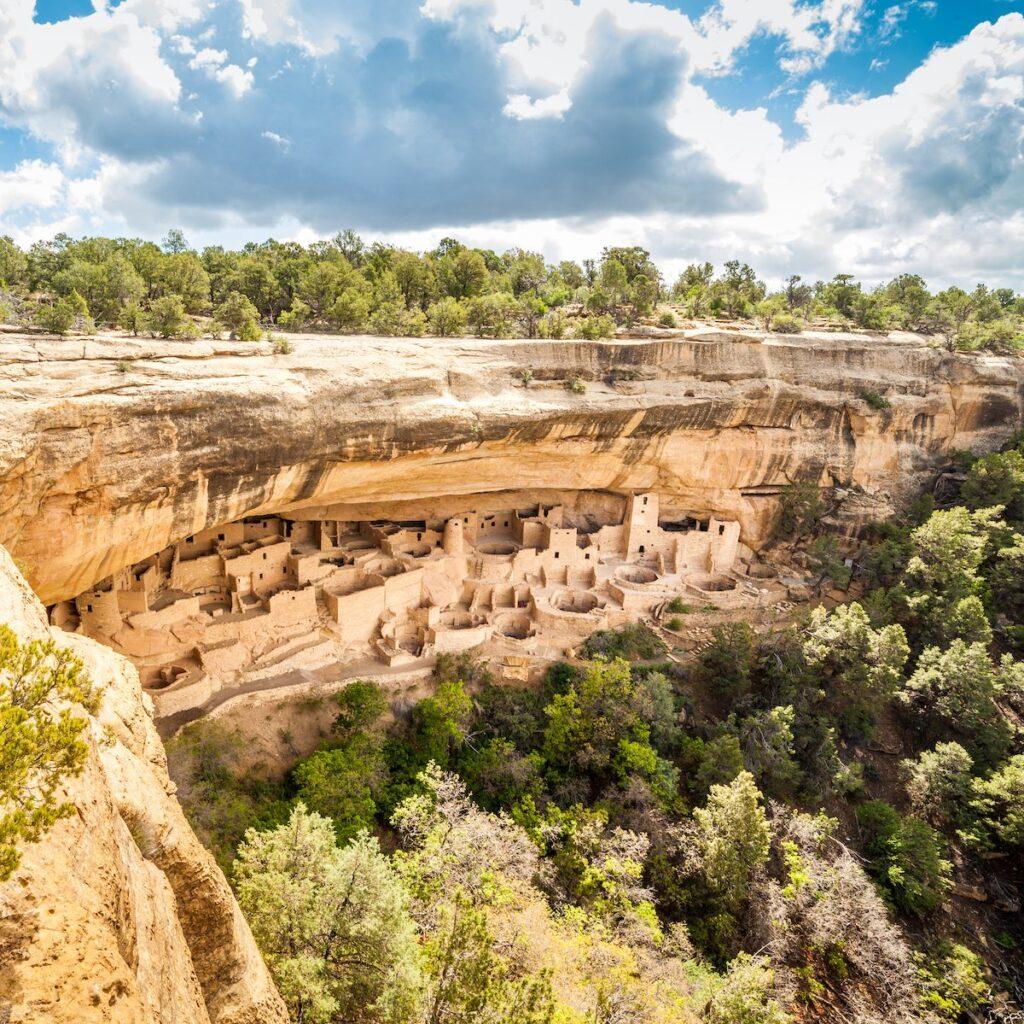 Cliff dwellings in Mesa Verde National Park.