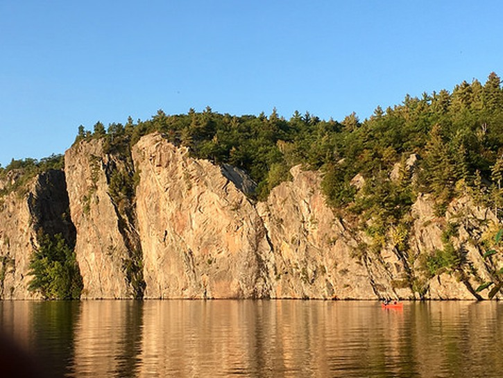 Cliff face at Bon Echo Provincial Park