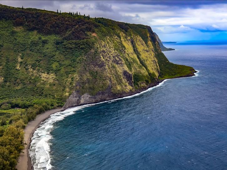 Cliff on the coast of Hawaii.
