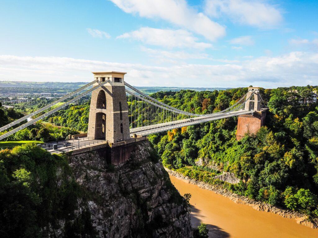 Clifton Suspension Bridge in Bristol.