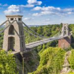 Clifton Suspension Bridge in Bristol, UK.