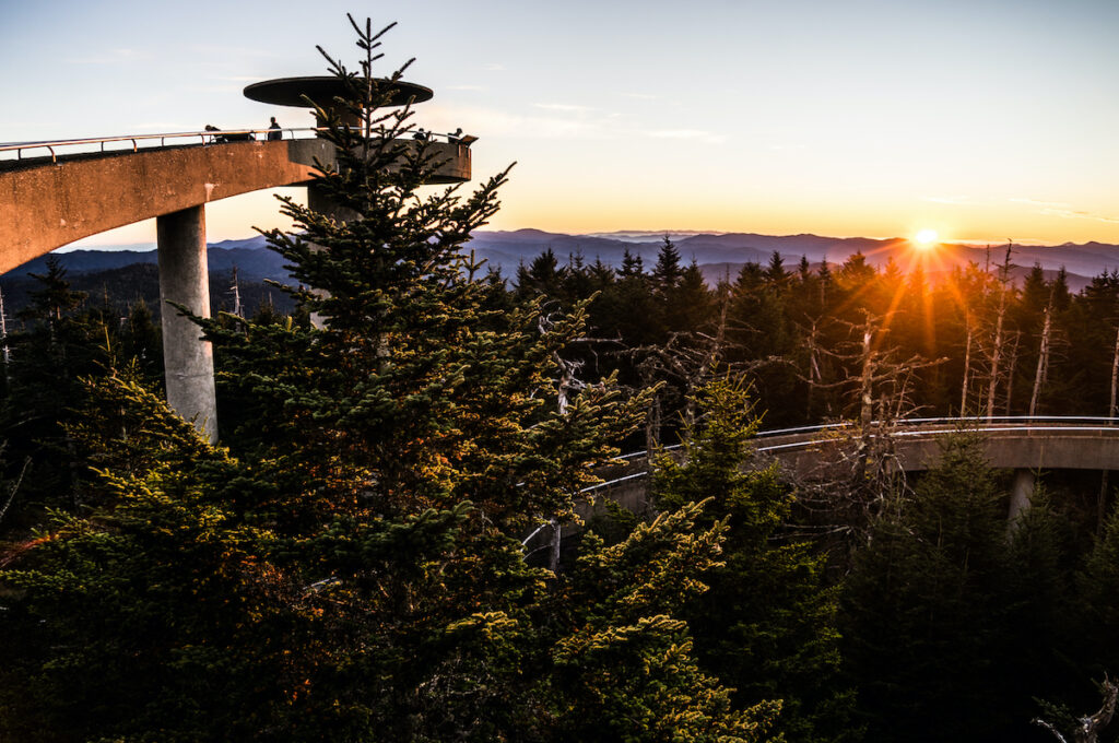 Clingmans Dome in Great Smoky Mountains National Park.
