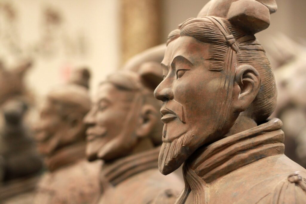 Close-up of a Terracotta warrior.