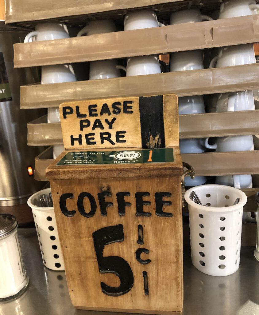 Coffee at Wall Drug, South Dakota