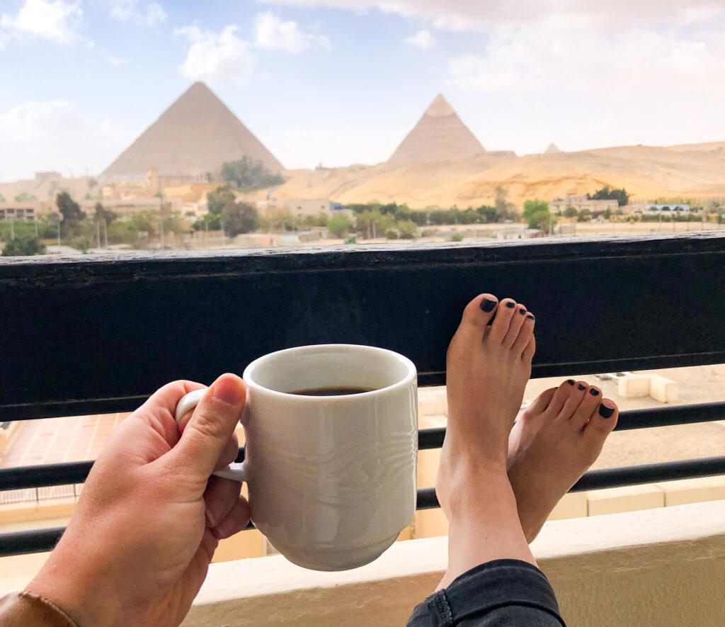 Coffee near the Pyramids