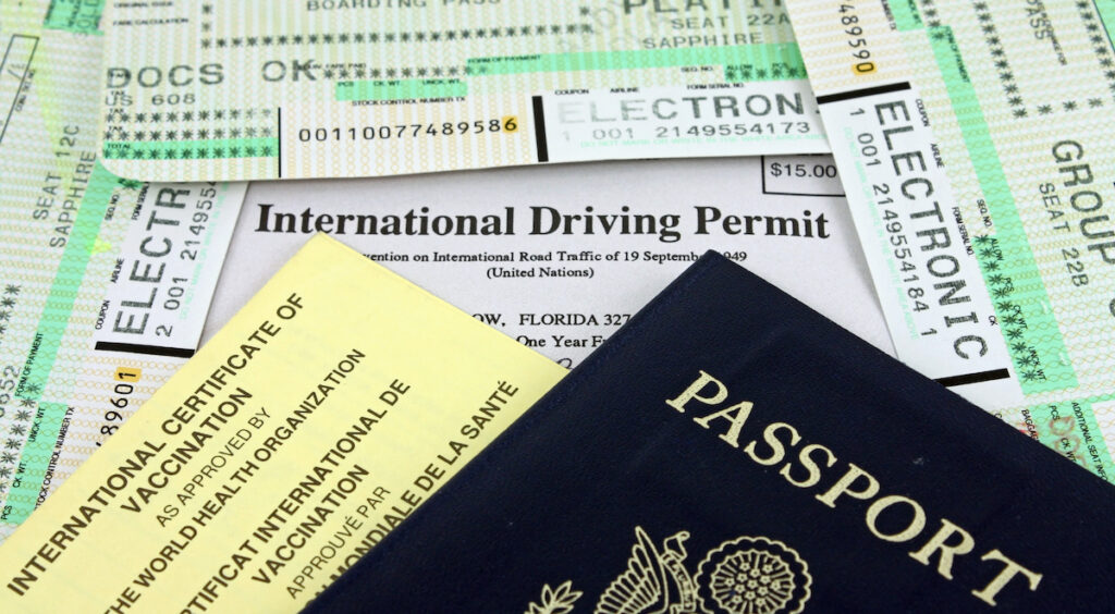 Collection of travel documents.